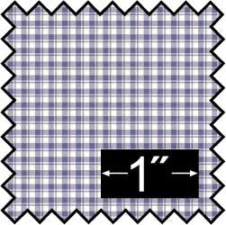 Silk Fabric, French Check, Blue