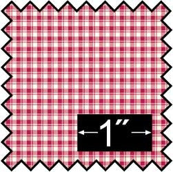 Silk Fabric, French Check, Red