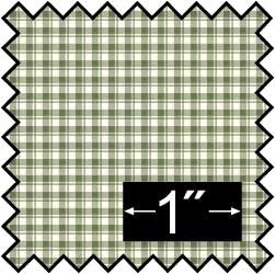 Silk Fabric, French Check, Green
