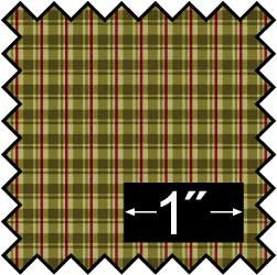 Silk Fabric, Plaid-Green