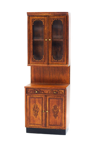 Bespaq Provincial Kitchen Cabinet, New Walnut Finish