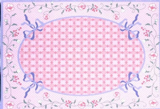 Area Rug, Cottage Garden Pink