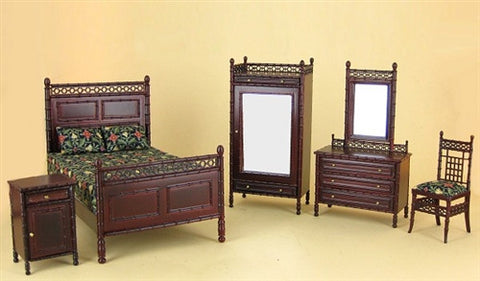 Bespaq Macomber Mahogany Bedroom Set SOLD OUT