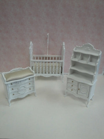 Sweet Wreath Nursery Set, Three Piece Set, White