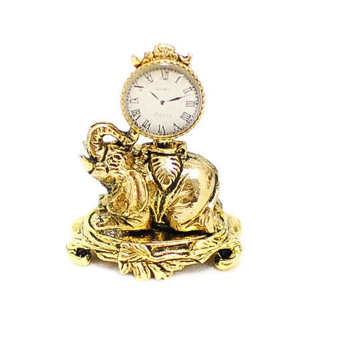 Elephant Clock, Bronzed by Brooke Tucker Designs