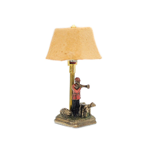 Table Lamp with Hunting Figure