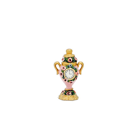 Urn Clock with Roses, Pink,  by Brooke Tucker