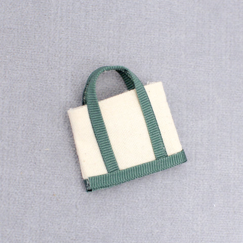 Canvas Tote Bag, Green Trim