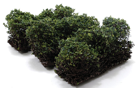 "1"" Low Green Bushes - Set of 3"