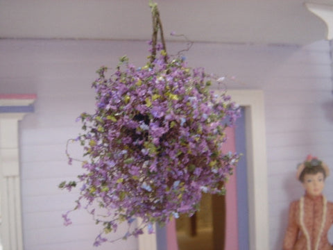 Hanging Floral, Large Purple/Blue