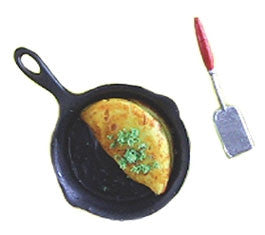 Omelet with Pan and Spatula