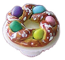 Easter Bread Ring on Stand