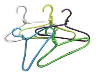 Wire Coat Hangers, Set of Five