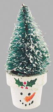 Christmas Tree in Snowman Pot
