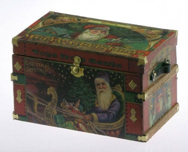 LITHOGRAPH WOODEN TRUNK KIT, Christmas