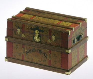LITHOGRAPH WOODEN TRUNK KIT, Doll's Trunk
