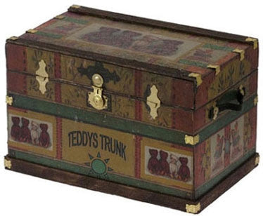 Lithograph Wooden Trunk Kit, Teddy Bear