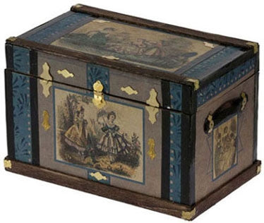 Lithograph Wooden Trunk Kit, Fashion