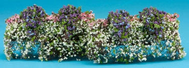 Window Box, Set of Two, Pink, Purple and White