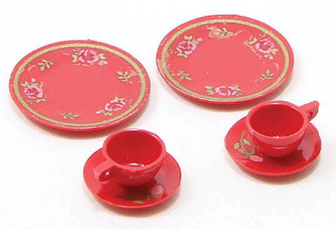 Dinnerware Set, Red