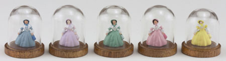 Lady Figurine Under Glass Dome