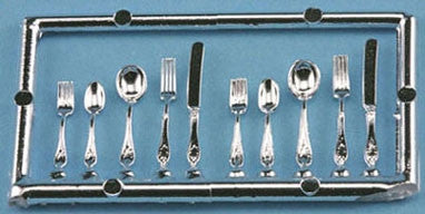 Silverware Set, Silver, by Chrsynbon