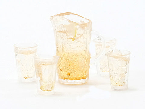 Lemonade Set, Pitcher and Four Glasses