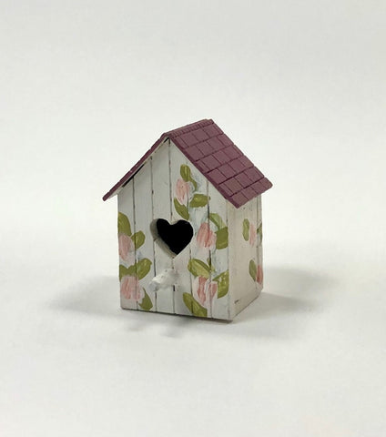 Birdhouse with Pink Roses