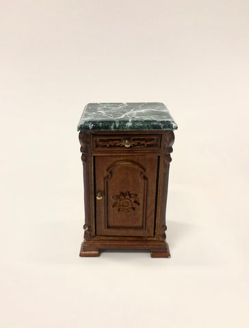 Re Mauldie Bedside Table, Green Marble