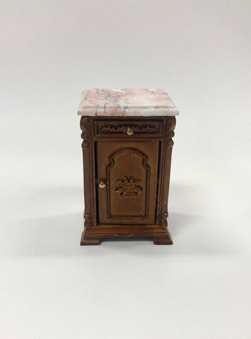 Re Mauldie Bedside Table, Pink Marble
