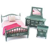 Bedroom Set with Green and White