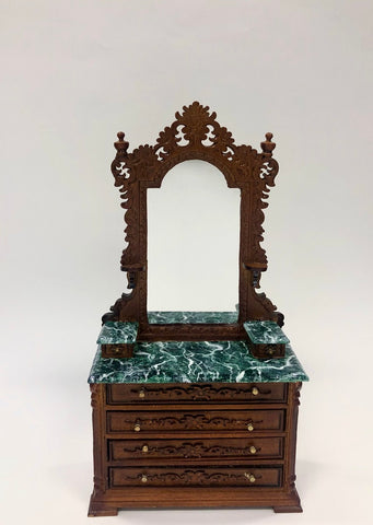 Ri Mauldie Vanity with Green Marble Top