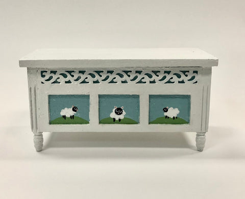 Toy Chest with Sheep