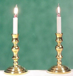 ELEGANT CANDLESTICKS, BRASS, BI-PIN