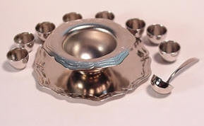 Punch Bowl Set, Silver Finish