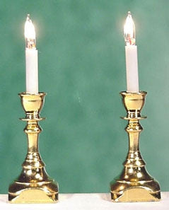 Candlesticks, Square Base, Bi-Pin Bulb