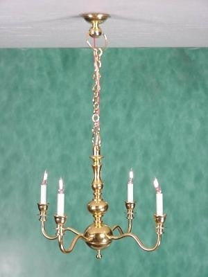 Clare-Bell Chandelier 4 Arm Brass