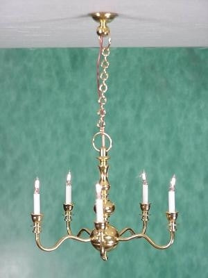 Clare-Bell Chandelier 5 Arm Brass 10% OFF!