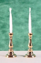Candlesticks, Pair Georgian Gold