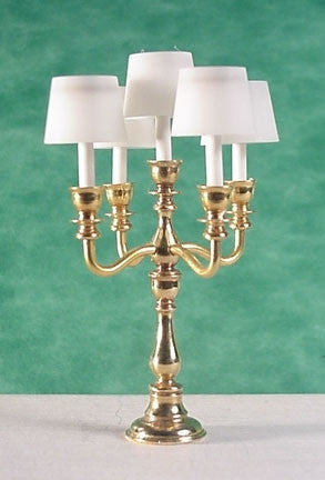 5 Light Georgian Candelabra With Shades