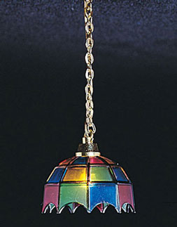 Hanging Tiffany Lamp, Multi Colored