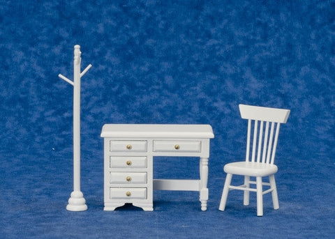 Desk Set, Youth Style, White, Three Piece