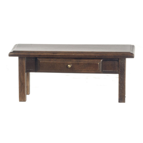 Coffee Table with Drawer, Walnut Finish