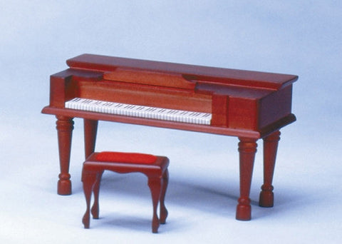 Spinet, Mahogany Finish, With Bench