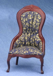 Victorian Ladies Chair, Blue and Gold OUT OF STOCK