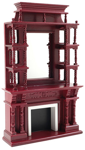 Fireplace Mantle, Tall Victorian Style