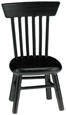 Kitchen Chair, Black Finish