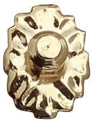 Medallion Knobs, 2/Pk, Brass GP