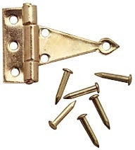 T-HInges, Brass, 4/PK