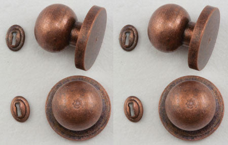 Door Knob with Keyhole, 4/Pk, Oil Rubbed Bronze